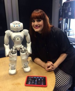 Stanley with Ana Matronic after the show.
